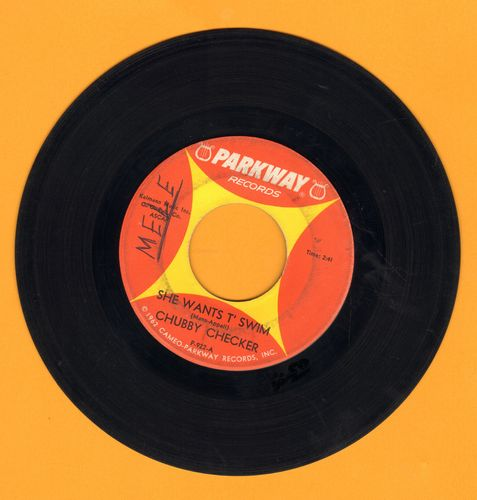 Checker, Chubby - She Wants T' Swim/You Better Believe It Baby (wol) - EX8/ - 45 rpm Records