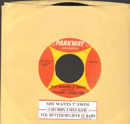 Checker, Chubby - She Wants T' Swim/You Better Believe It Baby (with juke box label) - VG7/ - 45 rpm Records