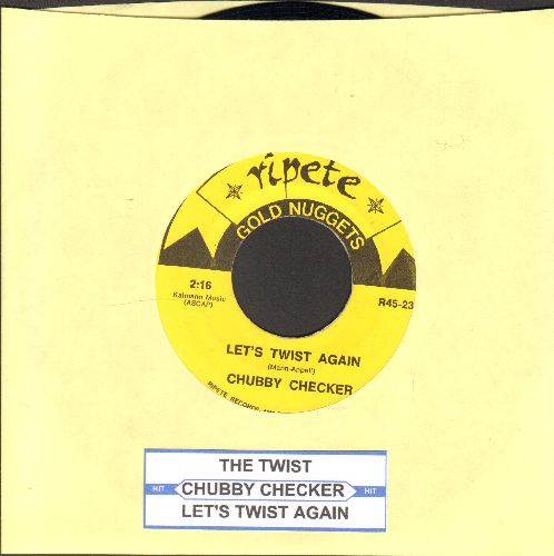 Checker, Chubby - The Twist (PARTY FAVORITE!)/Let's Twist Again (double-hit re-issue with juke box label) - NM9/ - 45 rpm Records