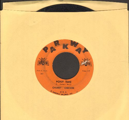 Checker, Chubby - Pony Time/Oh, Susannah (orange label first pressing) - VG7/ - 45 rpm Records