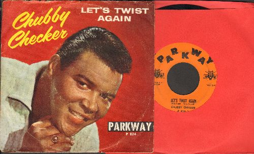 Checker, Chubby - Let's Twist Again/Everything's Gonna Be All Right (with picture sleeve) - EX8/VG7 - 45 rpm Records
