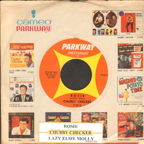 Checker, Chubby - Lazy Elsie Molly/Rosie (You've Got A Little Heart Of Gold) (with juke box label and vintageCameo-Parkway company sleeve) - NM9/ - 45 rpm Records