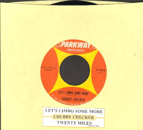 Checker, Chubby - Let's Limbo Some More/Twenty Miles (with juke box label) - EX8/ - 45 rpm Records