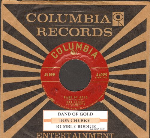 Cherry, Don - Band Of Gold/Rumble Boogie (with juke box label and Columbia company sleeve) - EX8/ - 45 rpm Records