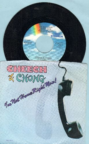 Cheech & Chong - I'm Not Home Right Now/Hot Saki (with picture sleeve) - NM9/NM9 - 45 rpm Records