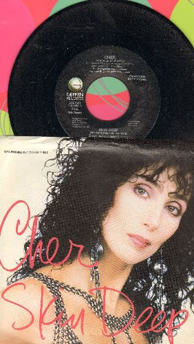 Cher - Skin Deep (double-A-sided DJ advance pressing with picture sleeve) - NM9/NM9 - 45 rpm Records