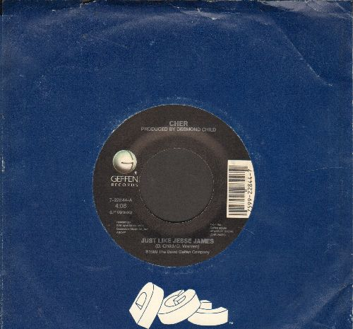 Cher - Just Like Jesse James/Starting Over (with company sleeve) - EX8/ - 45 rpm Records