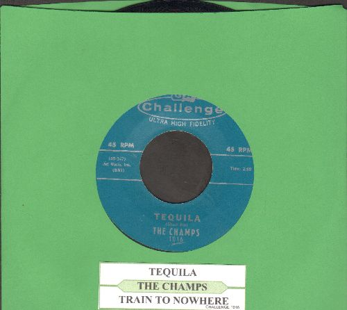 Champs - Tequila/Train To Nowhere (green label pressing with juke box label) - NM9/ - 45 rpm Records