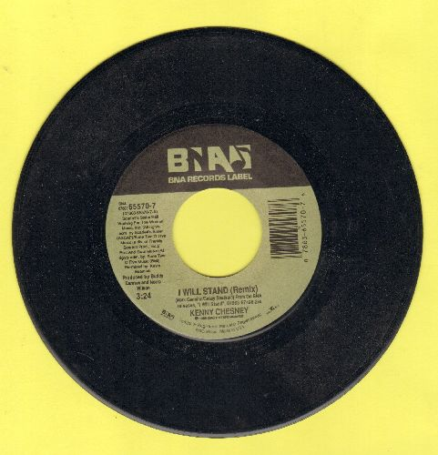 Chesney, Kenny - I Will Stand/She Always Says It First - NM9/ - 45 rpm Records