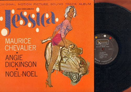 Jessica - Jessica - Original Motion Picture Sound Track, featuring Mauriece Chevalier and Angie Dickinson (vinyl MONO LP record, NICE cover art showing Angie Dickinson) - NM9/NM9 - LP Records