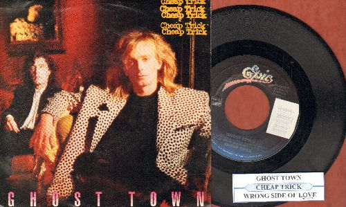 Cheap Trick - Ghost Town/Wrong Side Of Love (with juke box label and picture sleeve) - NM9/EX8 - 45 rpm Records