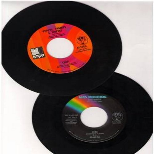 Cher - 2 for 1 Special: Gypsies, Tramps & Thieves/Half-Breed (2 vintage first issue 45rpm records for the price of 1!) - EX8/ - 45 rpm Records