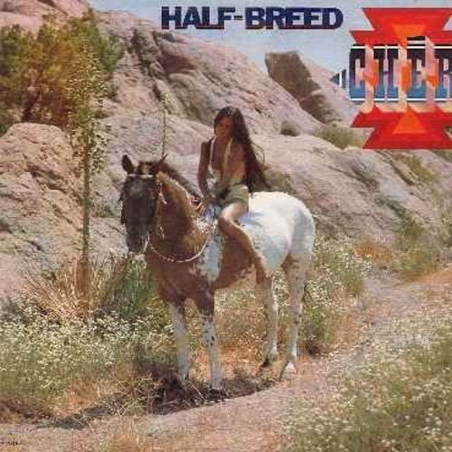 Cher - Half-Breed: How Can You Mend A Broken Heart, Chastity Sun, Melody, David's Song, My Love, Two People Clinging To A Thread (Vinyl LP record) - EX8/VG7 - LP Records