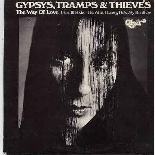 Cher - Gypsies, Tramps & Thieves: The Way Of Love, Fire & Rain, He Ain't Heavy He's My Brother, Touch And Go, He'll Never Know (vinyl STEREO LP record) - EX8/EX8 - LP Records