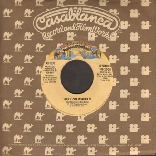 Cher - Hell On Wheels/Git Down (Guitar Groupie) (with Casablanca company sleeve) - NM9/ - 45 rpm Records