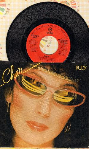 Cher - Rudy (doubel-A-sided DJ advance pressing with picture sleeve, NICE condition!) - NM9/NM9 - 45 rpm Records