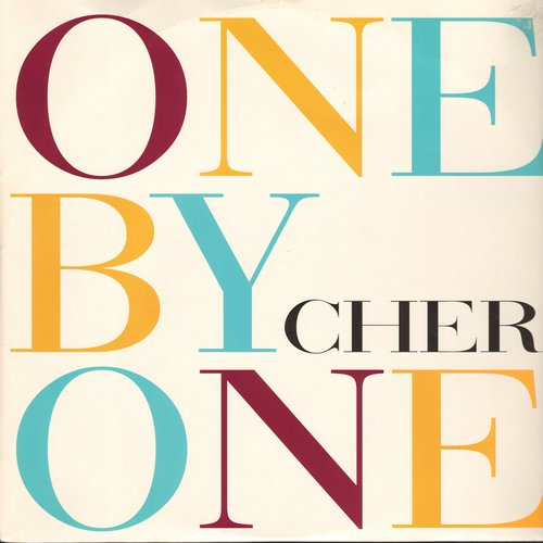 Cher - One By One (8:45 minutes Junior's Club Vocal)/Walking In Memphis (5:08 + 7:34 minutes versions) - (12 inch vinyl Maxi Single with picture cover, British Pressing) - NM9/NM9 - Maxi Singles