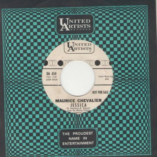 Chevalier, Maurice - Jessica/The Vespa Song (DJ advance copy with vintage United Artists company sleeve) - EX8/ - 45 rpm Records