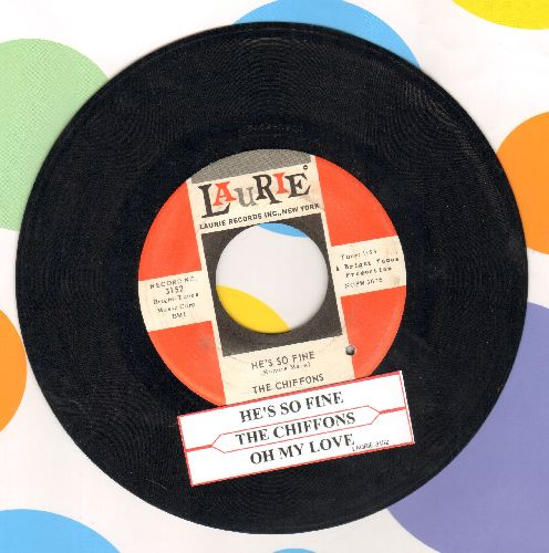 Chiffons - He's So Fine/Oh My Lover (with juke box label)(bb) - EX8/ - 45 rpm Records