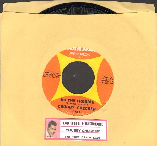 Checker, Chubby - Do The Freddie/(At The) Discoteque (RARE PRESSING omitting the word -Let's- from hit title, with juke box label) - NM9/ - 45 rpm Records
