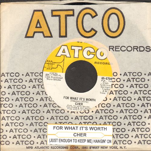 Cher - For What It's Worth/(Just Enough To Keep Me)(with juke box label and Atco company sleeve) - NM9/ - 45 rpm Records