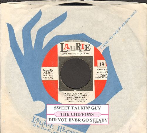 Chiffons - Sweet Talkin' Guy/Did You Ever Go Steady (with juke box label and Laurie company sleeve) - EX8/ - 45 rpm Records
