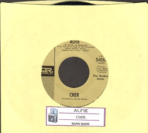 Cher - Alfie/Bang Bang (double-hit re-issue with juke box label) - NM9/ - 45 rpm Records