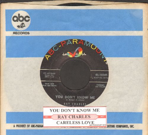 Charles, Ray - You Don't Know Me/Careless Love (with vintage ABC-Paramount company sleeve) - EX8/ - 45 rpm Records