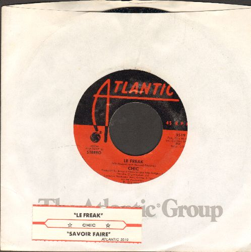 Chic - Le Freak (Freak Out!)/Savoir Faire (with Atlantic company sleeve and juke box label) - NM9/ - 45 rpm Records