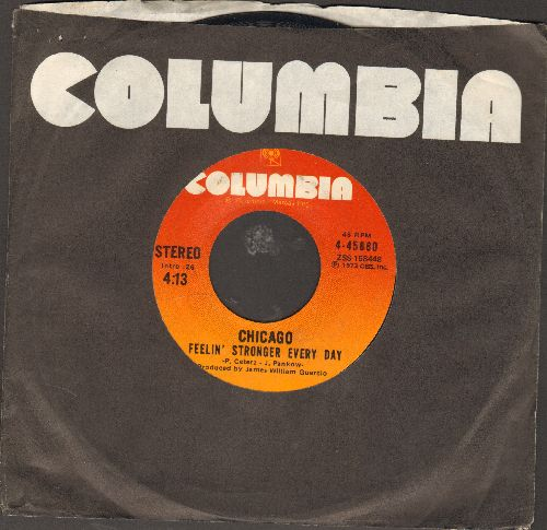 Chicago - Feelin' Stronger Every Day/Jenny (with Columbia company sleeve) - NM9/ - 45 rpm Records