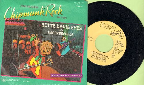 Chipmunks - Bette Davis Eyes (double-A-sided DJ advance pressing with picture sleeve) - NM9/NM9 - 45 rpm Records