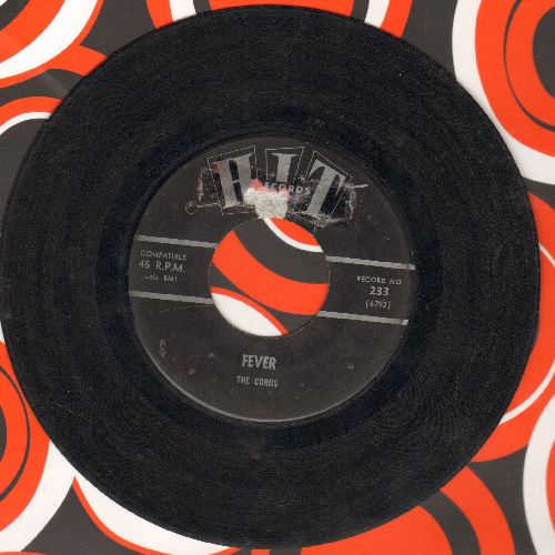 Cords - Fever/Make The World Go Away (by Johnny Singer on flip-side) (contemporary cover versions) - VG6/ - 45 rpm Records