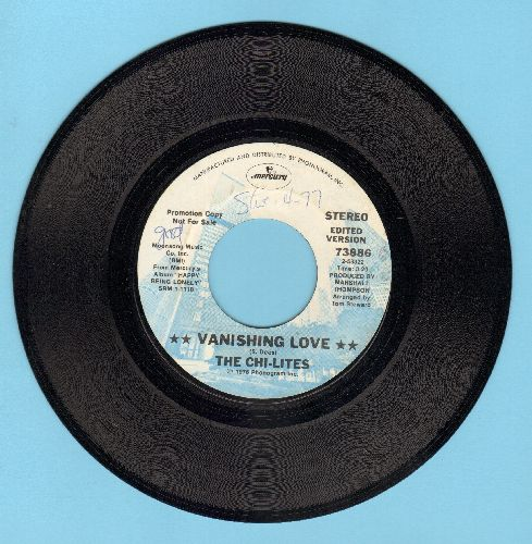 Chi-Lites - Vanishen Love/I Turn Away (DJ advance pressing) (minor wol) - NM9/ - 45 rpm Records