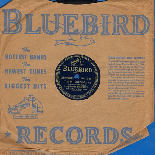 Stone, Butch & Larry Clinton's Bluebird Orchestra - Let Me Off Uptown/Jazz Me Blues (10 inch 78 rpm record with Bluebird company sleeve) - VG7/ - 78 rpm