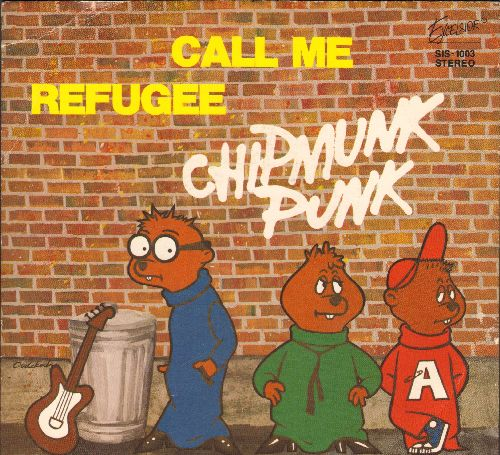 Chipmunks - Call Me/Refugee (with picture sleeve) - NM9/NM9 - 45 rpm Records
