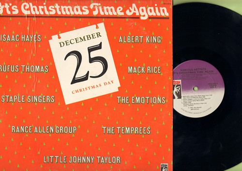 Taylor, Little Johnny, Isaac Hayes, Rufus Thomas, others - It's Christmas Time Again: Please Come Home For Christmas, Christmas Comes But Once A Year, Santa Claus Wants Some Lovin' (Vinyl STEREO LP record, DJ advance pressing) - NM9/EX8 - LP Records