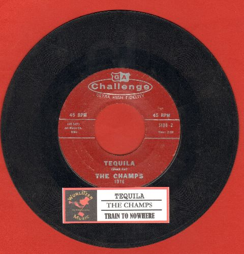 Champs - Tequila/Train To Nowhere (with juke box label) - VG7/ - 45 rpm Records
