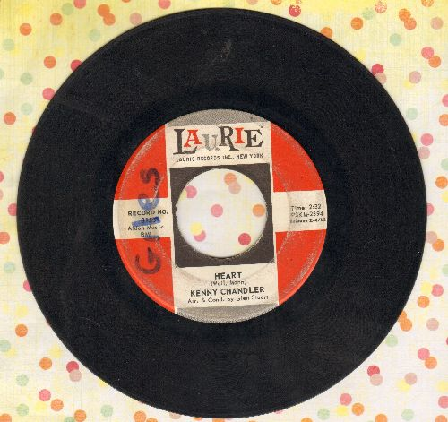 Chandler, Kenny - Heart/Wait For Me (FANTASTIC overlooked flip-side!)(wol) - VG6/ - 45 rpm Records