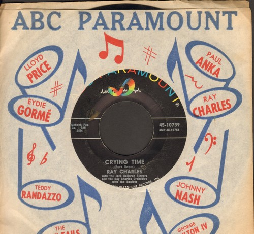 Charles, Ray - Crying Time/When My Dreamboat Comes Home (with ABC-P. company sleeve) - EX8/ - 45 rpm Records