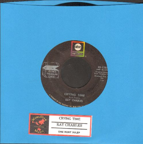 Charles, Ray - Crying Time/One Mint Julep (re-issue with juke box label) - EX8/ - 45 rpm Records