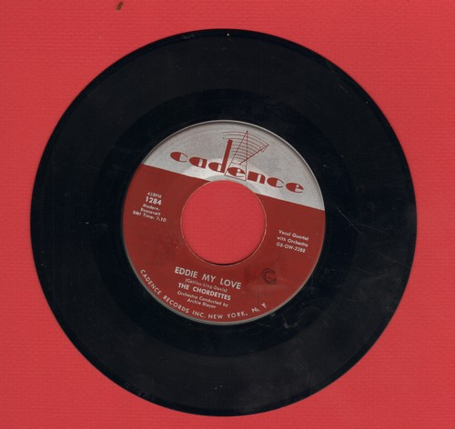 Chordettes - Eddie My Love/Whistlin' Willie (minor label blemish - VG6/ - 45 rpm Records
