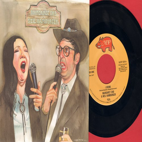 Cho, Margaret & Neil Hamburger - I Drink/How Little Men Care (BIZARRE Novelty Record featuring the Iconic Comedy Queen, with picture sleeve) - M10/M10 - 45 rpm Records