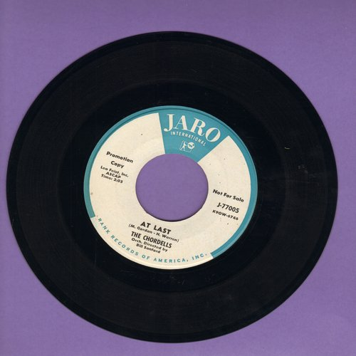 Chordells - At Last (FANTASTIC up-beat contemporary version of Etta James Hit)/September Song (DJ advance pressing) - NM9/ - 45 rpm Records