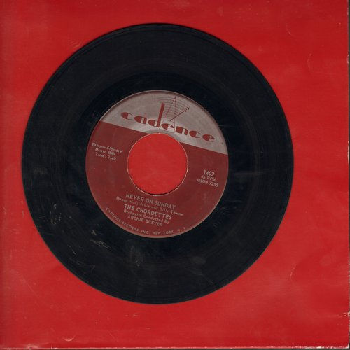 Chordettes - Never On Sunday/Faraway Star - EX8/ - 45 rpm Records
