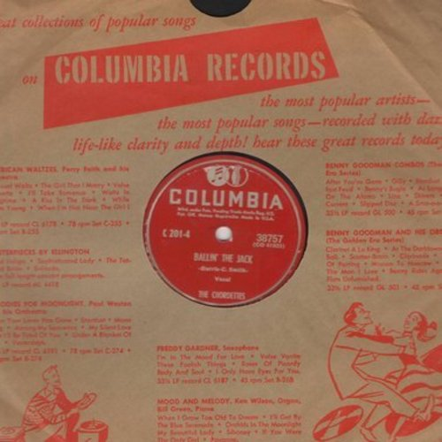 Chordettes - Ballin' The Jack/Carry Me Back To Old Virginny (10 inch 78rpm record with Columbia company sleeve) - EX8/ - 78 rpm