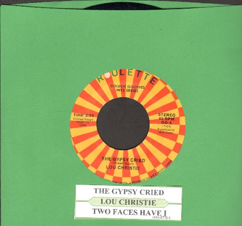 Christie, Lou - Two Faces Have I/The Gypsy Cried (authentic looking 1970s re-issue with juke box label) - M10/ - 45 rpm Records