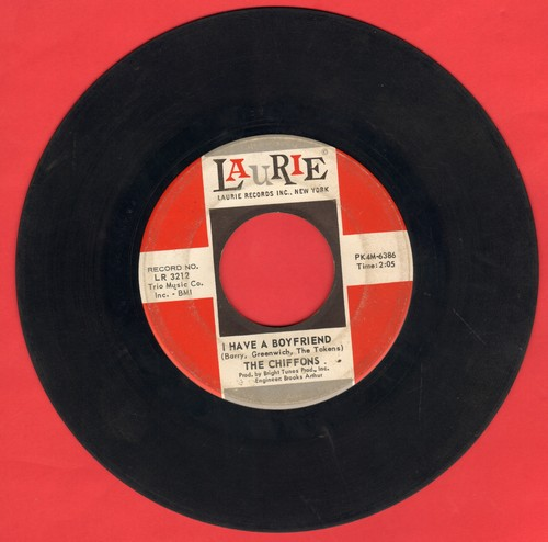 Chiffons - I Have A Boyfriend/I'm Gonna Dry My Eyes (wol) - VG7/ - 45 rpm Records