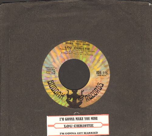Christie, Lou - I'm Gonna Make You Mine/I'm Gonna Get Married (with Buddah company sleeve and juke box label) - NM9/ - 45 rpm Records