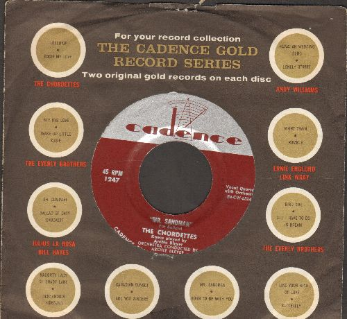 Chordettes - Mr. Sandman/I Don't Wanna See You Cryin' (with Cadence company sleeve) - VG7/ - 45 rpm Records