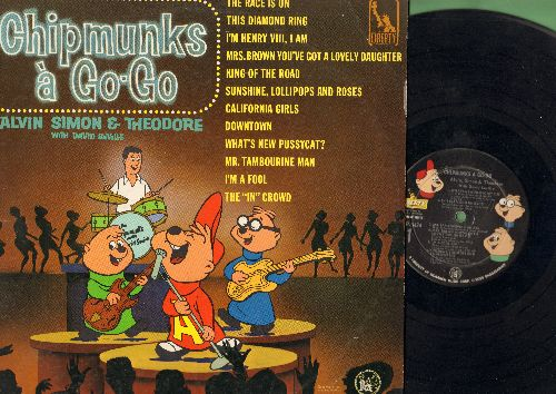 Chipmunks - Chipmunks A-Go-Go: What's New Pussycat?, This Diamond Ring, Downtown, California Girls, Sunshine Lollipops And Rainbows, I'm Henry VIII I Am (Vinyl MONO LP record) - VG7/VG7 - LP Records